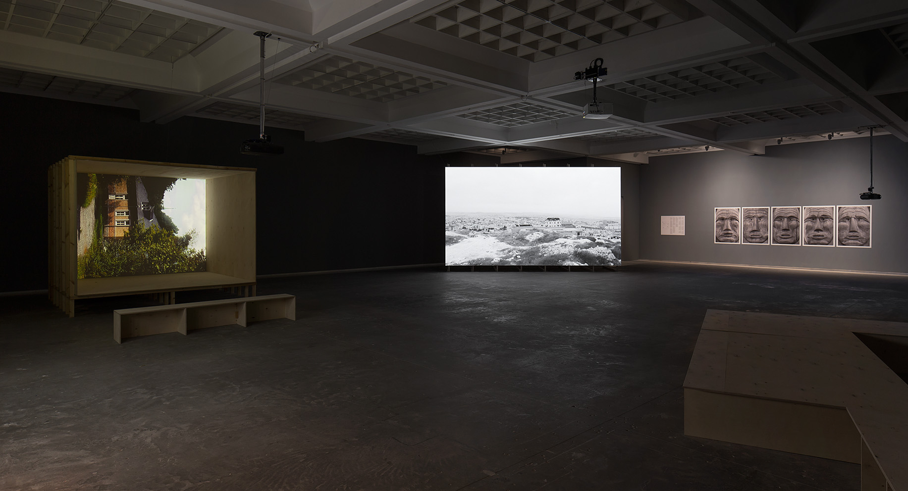 Installation view at 'Masad' Solo show at the Tel Aviv Museum of Art, June 2016